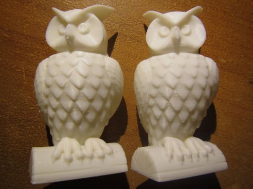 Owl 3D Prints from Mendelmax Deluxe 1.5 3D Printer