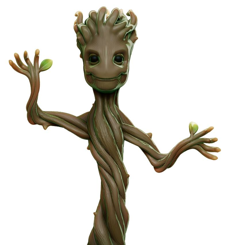 Baby Groot 3D Model Fully Rendered and Looking Fine
