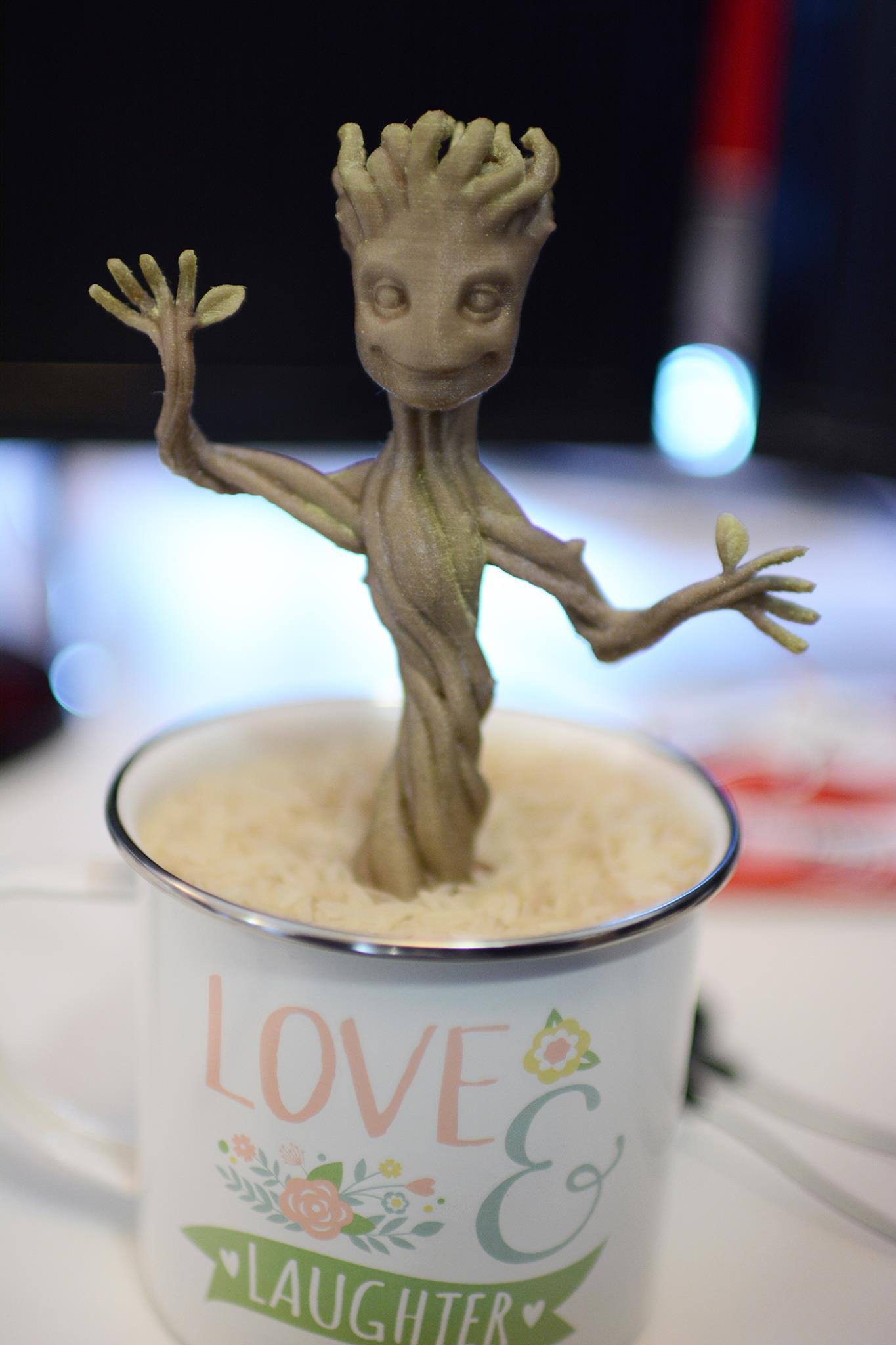 Finished 3D Printed Baby Groot Model