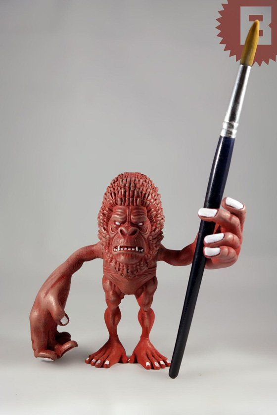 Bauermaker's Ape Printed with ColorFabb Bronzefill and then Painted