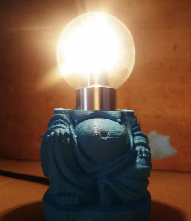 Bauermaker's 3d Printed Buddha Light