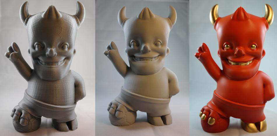 World Cup Red Devil Mascot by Bauermaker, design by Ultimaker