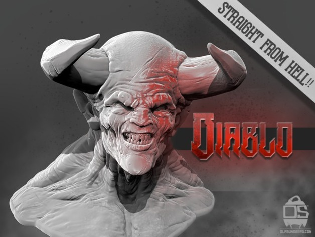 Diablo 3D Printable Model by Ola Sundberg