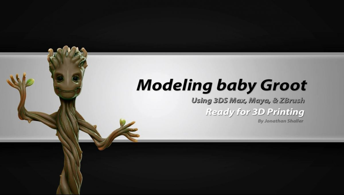 Modeling Baby Groot - a 3D Printing Ready Tutorial by Jonathan Shaller
