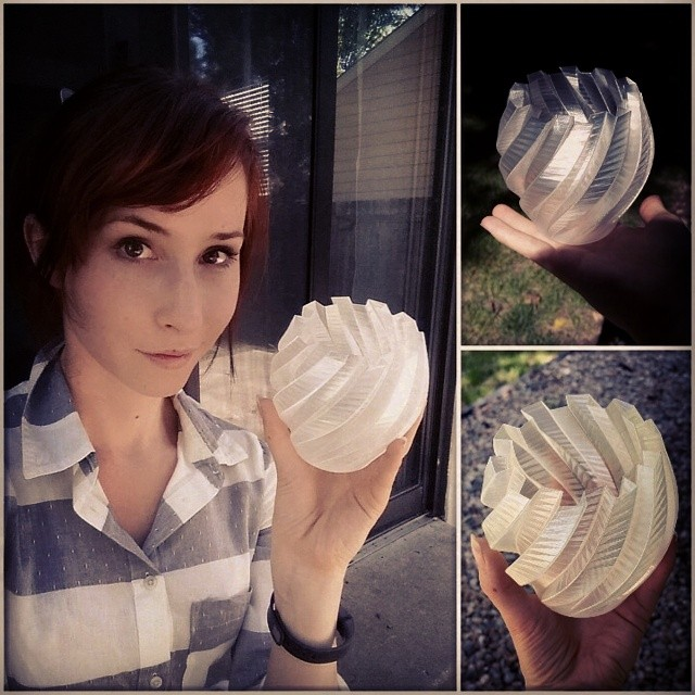 "Natasha ""Bindi Smalls"" With 3D print from LulzBot Taz"
