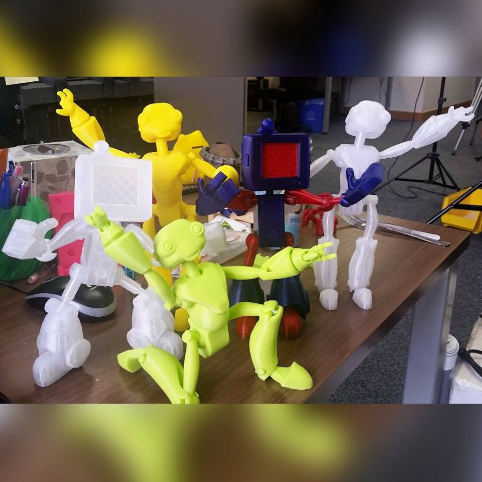 3D Printed Robot Action Figures by Bindi Smalls