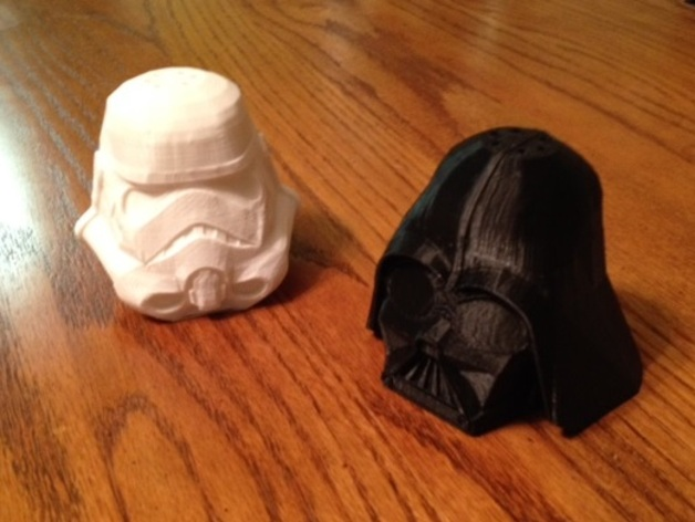 Star Wars Salt and Pepper Shakers for 3D Printing
